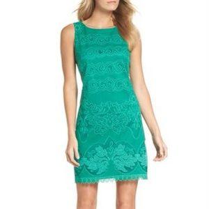Eliza J Malta Textured Dress 4p Lace Kelly Green